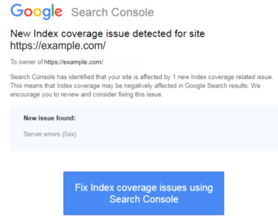 Fix Index coverage issues Google Search Console