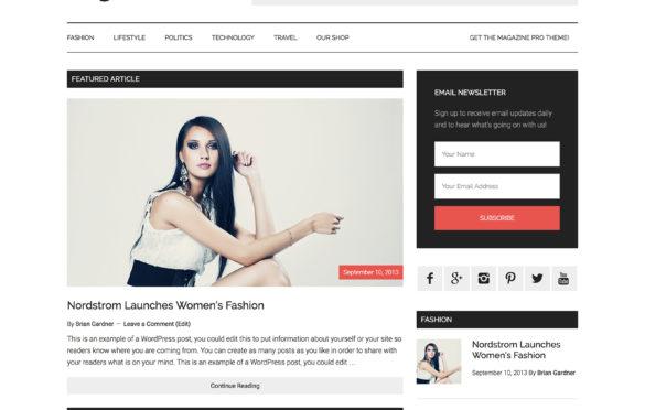 Create Stunning Magazine with Genesis WordPress Magazine Pro Theme