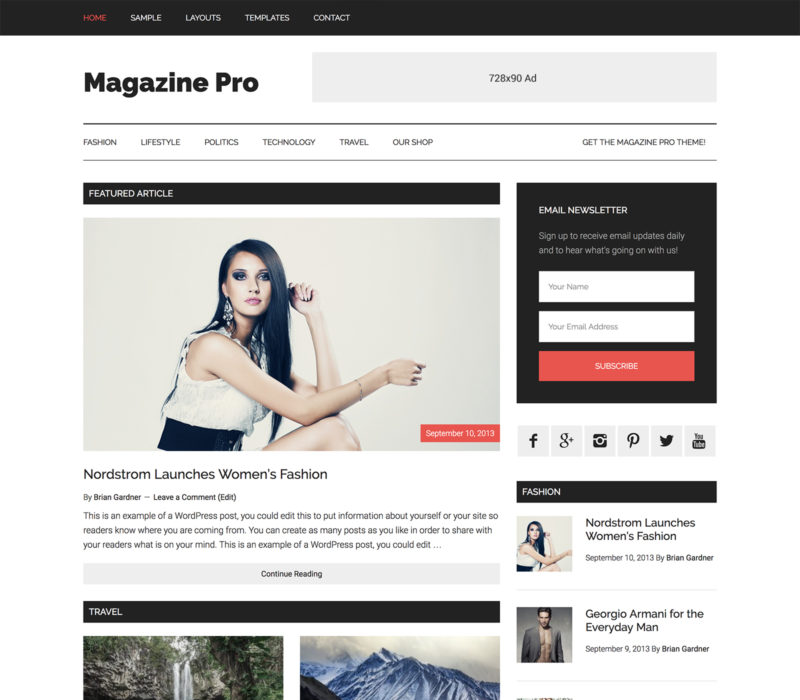 Create Stunning Magazine with Genesis WordPress Magazine Pro Theme